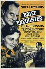 Brief Encounter Howard & Johnson Vintage Movie Poster Plaque Métal: Home Decor
