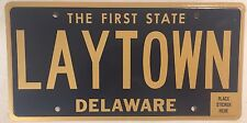 Delaware vanity LAY TOWN license plate lazy down city lie DE