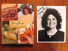 JENNY CRAIG Signed 8 X 10 B & W Photo(w/1997 1st Edit Hardback-NO DIET REQUIRED)