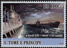 La segunda guerra mundial U-530 tipo IXc/40 U-Boat & IJN I-52 Rendezvous submarino buque de guerra Sello