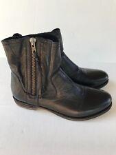 Blackstone Women's Dark Brown Full Grain Leather Ankle Boots 38 8-7.5