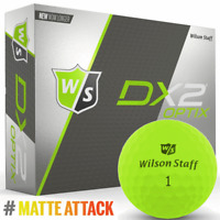 """""""NEW 2018"""" WILSON DX2 OPTIX MATTE FINISH GOLF BALLS 12 BALL DOZEN PACK / GREEN"""
