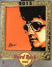 Hard Rock Cafe ONLINE 2013 Elvis Presley Series PIN #4/5! LE 200 King GOLD FRAME