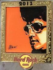 Hard Rock Cafe ONLINE 2013 Elvis Presley Series PIN #4/5! LE 200 King GOLD FRAME