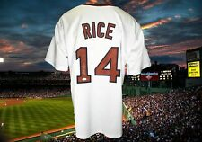 JIM RICE  AUTOGRAPHED CUSTOM WHITE BOSTON RED SOX JERSEY JSA AUTHENTICATED