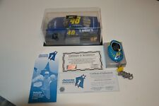 2005 Revell  JIMMIE JOHNSON #48 Lowes 1/24 Scale Nascar Car & Stopwatch  SIGNED
