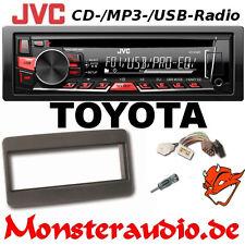 JVC CD MP3 USB Autoradio Toyota Avensis Celica Corolla Radio + Adapter & Blende