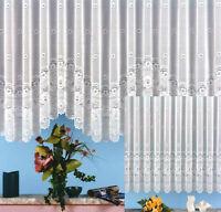 Gardine Vorhang Store gebogt aus hochwertigem Jacquard mit schönen Blumen Typ25