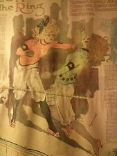 NOV 15, 1910 NEWSPAPER PAGE #1512- WOMEN'S BOXING, CO-ED HAZERS IN THE RING