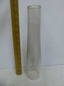 Glass Chimney for Oil Lamp. 32cm tall .1985 dated at base. Used but good order
