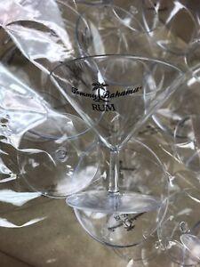 Tommy Bahama Plastic Martini Glasses Lot Of 24