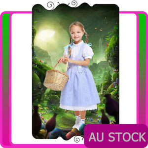 Girls Dorothy Costume The Wizard of Oz Book Week Party Fancy Dress Kids Child
