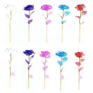 24K Gold Foil Rose Flower LED Luminous Galaxy Mother's Gift. Day H8E7
