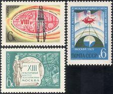 Russia 1971 Oil/Industry/Satellite/Geophysics/Train/Space/Radio Dish 3v (n28185)