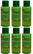 6 x Simple Soothing Facial Toner 50ml100% Brand New