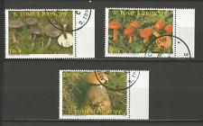 champignon 1987 Sao Tomé-et-Principe 3 timbres anciens oblitérés /T4387
