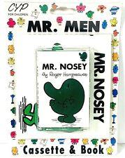 Vintage Mr. Nosey (Mr Men Book & Cassette Tape) by Roger Hargreaves ~ NEW SEALED