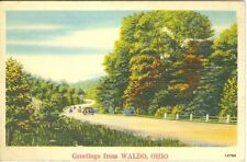 Waldo OH Scenic 1942 Country Road Greetings from Waldo