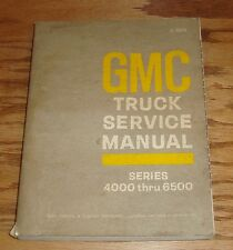 Original 1969 GMC Truck Series 4000 - 6500 Shop Service Manual 69