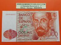 2000 PESETAS 1980 JUAN RAMON JIMENEZ Serie E Pick 159 BILLETE SC España UNC