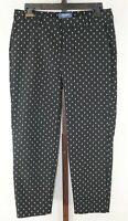 Old Navy Womens Ladies Black White Print  Harper Straight Leg Pants Size 4 P