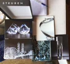 Steuben Glass Ware Note Cards Tribute to NYC Set of 10 Unused 2002 Twin Towers
