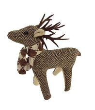 Small Free Standing Fabric Country Chic Tweed Reindeer / Deer / Stag