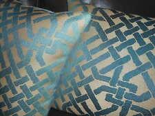 Throw pillows Lee Jofa Kelly Wearstler Ombre Maze in TEAL Geometric design PAIR