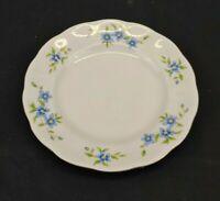 Vintage Embassy China Farolina Maria Blue Flowers Bread Plate Poland