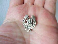 Schöne ,alte Anstecknadel , 40 Jahre RAG ,  835 Silber  , Bergbau