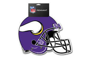 NFL Minnesota Vikings Die Cut Felt Pennant Sign Wall Man Cave Helmet NEW