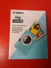 Canon ivy CLIQ 2 Instant Camera Printer (K1) NEW FACTORY SEALED BOX TURQUOISE
