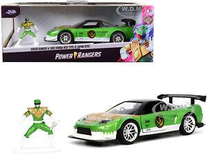 """2002 HONDA NSX TYPE-R JAPAN SPEC & GREEN RANGER """"POWER RANGERS"""" 1/32 JADA 32871"""