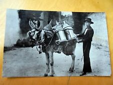 OLD PPC: GRANADA~AQUADOR TIPICO~DONKEY~COSTUME~1959~GENERAL FRANCO STAMP