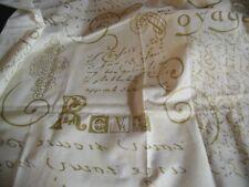 """coupon tissu  """" écriture dorée """"  93 X 138  cm"""