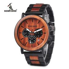 BOBO BIRD Wood Wrist Watch for Men with Luminous Pointer Wood & Stainless Steel