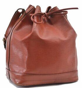 Authentic Louis Vuitton Epi Noe Brown Shoulder Bag LV D2538