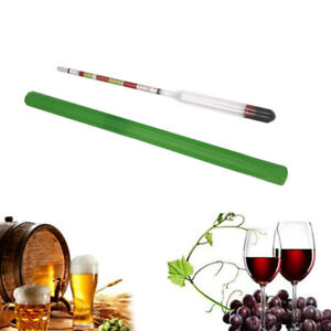 Home Brew Hydrometer Wine Beer Cider Alcohol Testing Making Tester 3 In 1 Scale