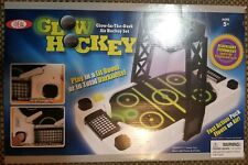 Ideal Glow In The Dark Air Hockey Table Set Arcade Hockey Action - Works
