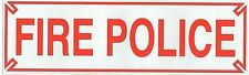 """FIRE POLICE Highly Reflective Decal - 1 1/4"""" x 4 1/4"""" - Red Fire Police Decal"""
