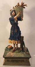 "Rare Duncan Royale Calendar Secrets September Statute 14"" Woman carries a basket"