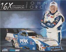 2018 John Force Peak Coolant Chevy Camaro Funny Car NHRA postcard