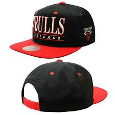 Mitchell & Ness Chicago Bulls Adjustable Snapback Adults Cap Hat Black INTL231