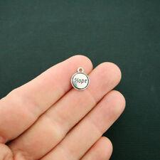 BULK 50 Hope Charms Antique Silver Tone - SC6427