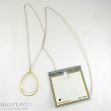 TOUCH OF SILVER HINT OF GOLD TEAR DROP PENDANT NECKLACE NWT $65