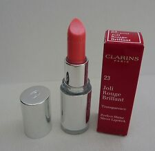 1x CLARINS Joli Rouge Brillant Perfect Shine Sheer Lipstick, #23 Rose Petal BNIB