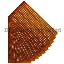 10x  50x100mm Bakelite 1.2mm Single Side Copper Prototype PCB Matrix/Strip Board