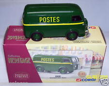 CORGI HERITAGE PEUGEOT D3A VERT POSTE POSTES PTT 1/43 box