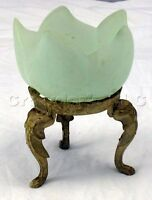 """Glass Tulip Flower Tea Light Candle Holder with Stand - 6"""" Tall - Made in Italy"""