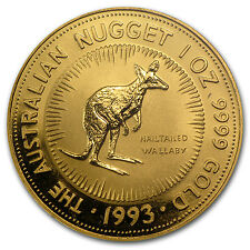 1993 Australia 1 oz Gold Nugget BU - SKU #66363